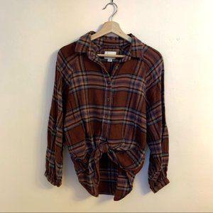 American Eagle Flannel Shirt   Balloon Sleeve